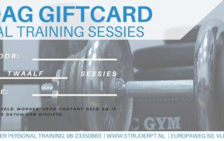 Giftcard Vaderdag 12 PT-sessies