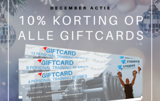 kerst giftcard strijder personal training